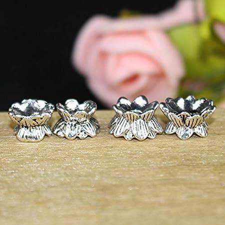50 Pcs Antique Filigree Flowers Metal Charm DIY Jewelry Decor Accessories Craft