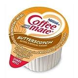 Coffee-mate Butterscotch Liquid Creamer Singles - 180 Count Case