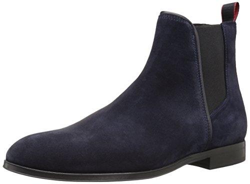 Hugo Boss Hugo Men's Boheme Suede Chelsea Boot, Dark Blue, 46 M EU (13 US) (Hugo Boss Shoes Boots)
