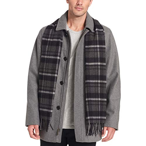 Dockers Men's Big and Tall Big & Tall Weston Wool Blend Car Coat with Scarf, Light Grey, 5X