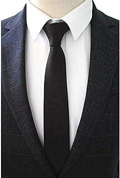 RENZHEN Original algodón 2.4 Skinny Plaid Solid Cashmere Tie ...