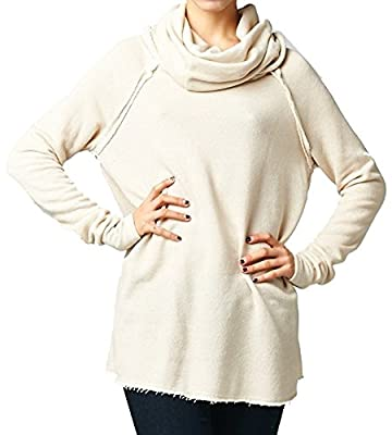 Marilyn & Main Women's Cozy French Terry Pullover Sweatshirt Sweater