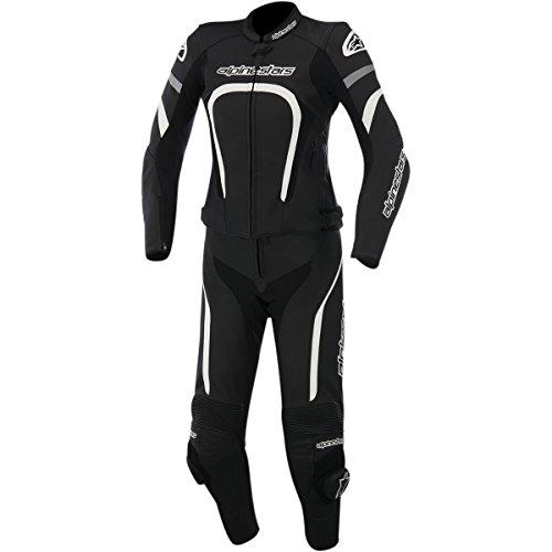 Alpinestars Motegi Women's 2-Piece Street Motorcycle Race Suits - Black/White / 42
