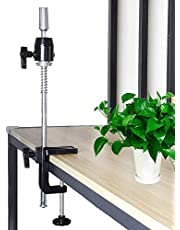 Scalable Wig Stand C Clamp Mannequin Head Table Stand Holder Rotatable Metal Mannequin Head Clamp Holder Adjustable Height C-Clamp Table Clamp Holder for Wig Doll Head Clamp