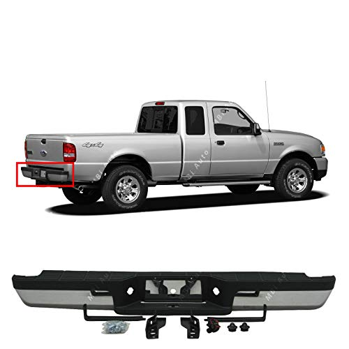 BUMPERS THAT DELIVER - Chrome, Steel Rear Step Bumper Assembly for 1993-2011 Ford Ranger 93-11, FO1102306