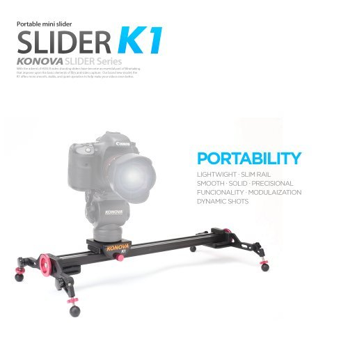 Konova Portable Slider Dolly K1 48cm (18.9 Inch) by KONOVA