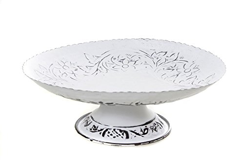 (Store Indya Fruit Bowl Tray Pedestal Basket Hand Crafted with Floral Motifs)