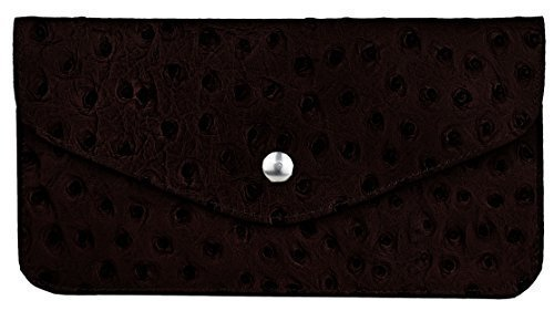 Bags4Less Clutch / Bolso de fiesta de real Cuero Seebär - Marrón Oscuro Marrón Oscuro