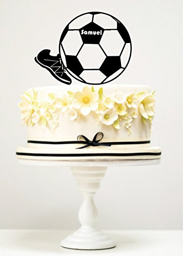 KISKISTONITE Cake Toppers Football & Shoes Sports Custom Name Birthday Anniversary Favors Party Cake Decorating Supplies