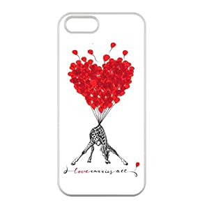 Customized iPhone Case Art Love Giraffe Printed TPU Laser iPhone 5 5S Case Cover