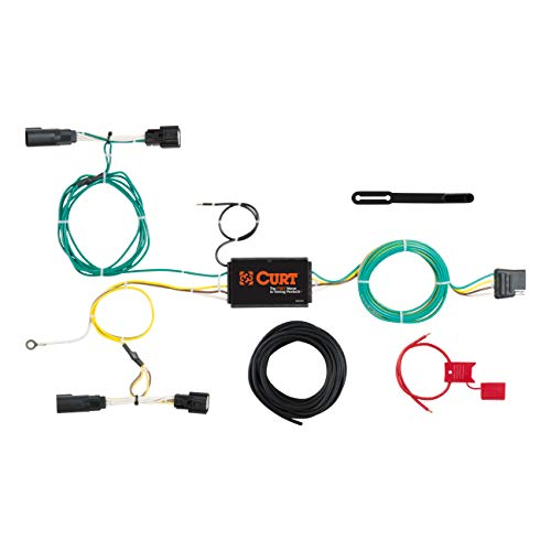 CURT 56302 Vehicle-Side Custom 4-Pin Trailer Wiring Harness for Select Ford Fusion