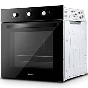 Wall Oven 24″ Electric Built-in Single 220 Volt 2850 Watt Buttons Control, 4 Cooking Modes Suitable for Cooking Different kinds of Food Black