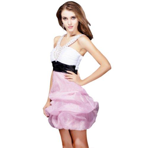 una Pink Organza nuovo Vestito White Homecoming Sunvary amp; Black linea corto Dress in amp; arrivo qEw6nCTa