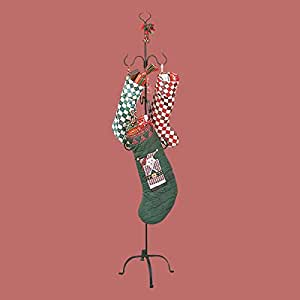 Christmas Stocking Holder Wrought Iron Handmade RSF Finish Rust And Stain Resistant Easy Assembly