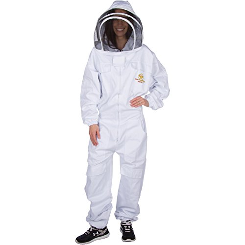 Professional Beekeeping Suit – Self-Supporting Fencing Veil for Bee Keepers – Easily Take On and Off - Good for Beginners as well (Beekeeper Costume Accessories)