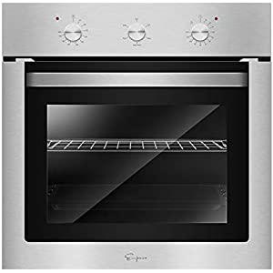 Empava 24″ Electric Single Wall Oven with Basic Broil/Bake Functions Mechanical Knobs Control in Stainless Steel, SOA01