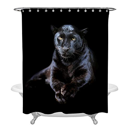 MitoVilla 3D Black Panther Shower Curtain for Safari for sale  Delivered anywhere in USA
