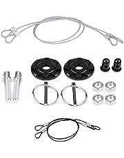 Qiilu Universal Hood Pins Kit, CNC Aluminum Alloy Car Racing Hood Pin Lock Appearance Kit