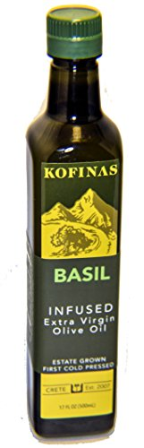 Infused Extra Virgin First Cold Pressed Olive Oil 500 Ml (17 Oz) (Basil Flavored)