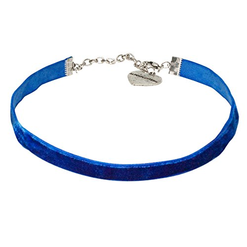 Alpenflüstern Damen Samtkropfband elastisch blau DHK07600060