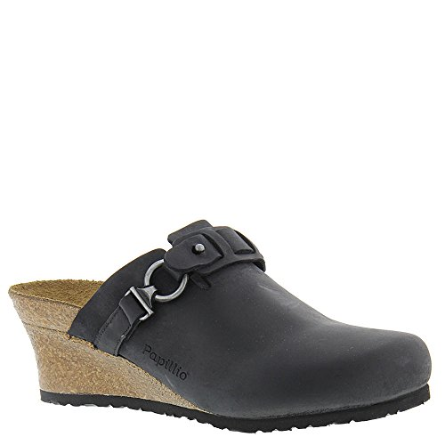 Birkenstock Womens Dana Sandal Black Oiled Leather Size 38 N EU (7-7.5 N US Women)
