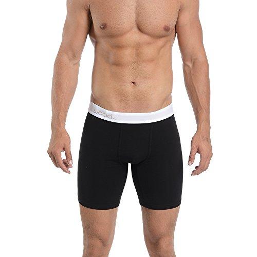 Biker Boxer Brief - Wood Underwear Biker Brief (Small, Black)