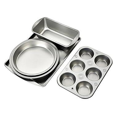 Deik Kitchen Bake 5-Piece Bakeware Set, Carbon Steel