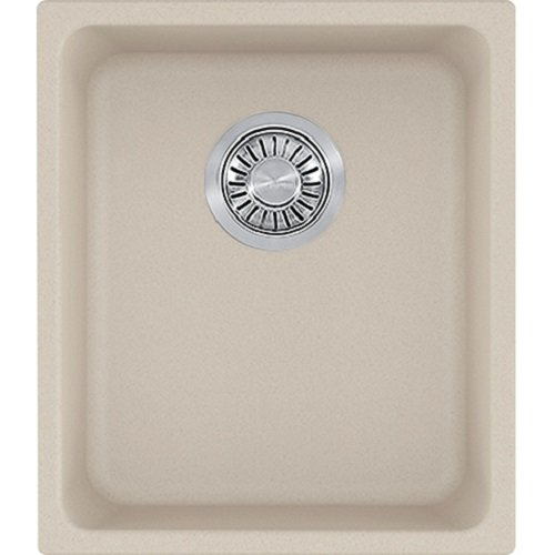 Franke KBG11013CHA Kubus Granite Undermount Single Bowl Kitchen Sink, Champagne