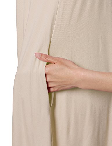 Short Fit Stretchy Women's Awesome21 Awtts0362 Dress Casual Sleeve Taupe Tunic Loose ZTfRnqg
