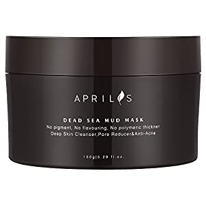 Dead Sea Mud Mask, Aprilis Organic Deep Skin Cleanser for Facial and Body Treatment, Valentine Gift (150 g / 5.29 oz)