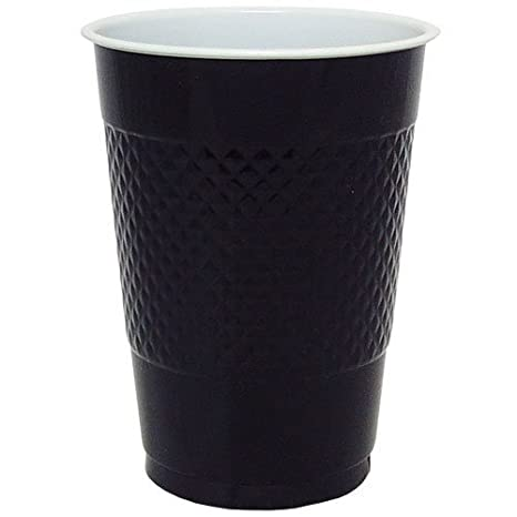 Hanna K. Signature Collection 50 Count Plastic Cup, 9-Ounce, Black King Zak Industries Inc. 81080