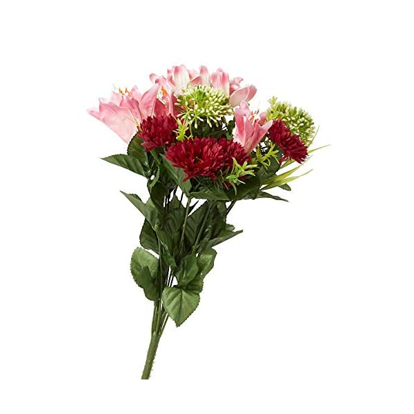 Factory Direct Craft Pink Artificial Lily Aster and Cosmos Bush