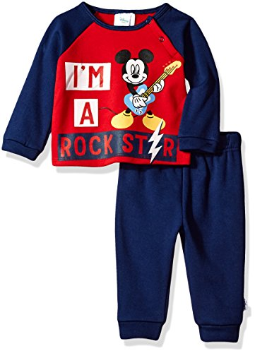 Disney Baby Boys' Mickey Mouse 2-Piece Fleece Set