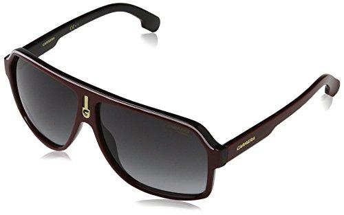 Carrera Men's Ca1001s Aviator Sunglasses, Red Black/Dark Gray Gradient, 62 - Carrera Black Sunglasses Red And