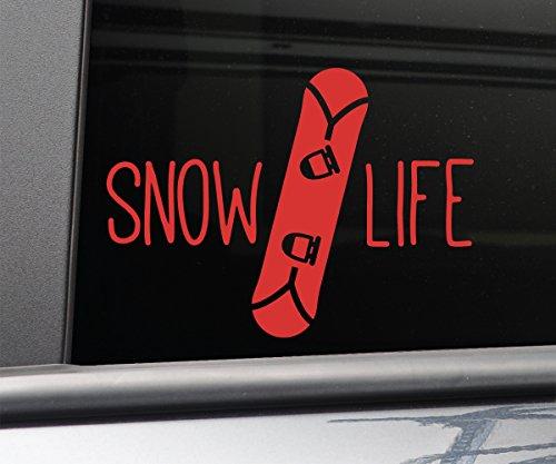 Snow Life Snowboarding Snowboard Vinyl Decal Laptop Car Truck Bumper Window Sticker, 5
