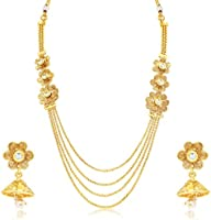 Sukkhi Pleasing 4 String Jalebi Gold Plated Alloy Long Hara