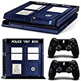 CAN Ps4 Console Designer Protective Vinyl Skin Decal Cover for Sony Playstation 4 & Remote Dualshock 4 Wireless Controller Stickers – Doctor Who
