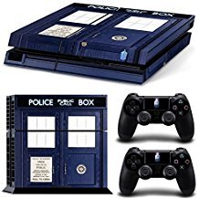 Price comparison product image CAN Ps4 Console Designer Protective Vinyl Skin Decal Cover for Sony Playstation 4 & Remote Dualshock 4 Wireless Controller Stickers - Doctor Who