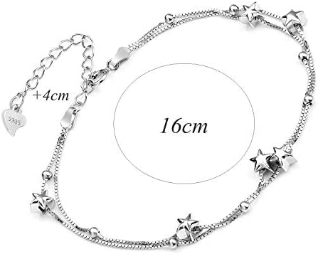 Sterne Armband Silberarmband mit Sternen Damenarmband verstellbar Modeschmuck