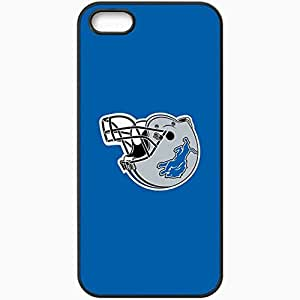 Personalized iPhone 5 5S Cell phone Case/Cover Skin Nfl Detroit Lions 6 Sport Black