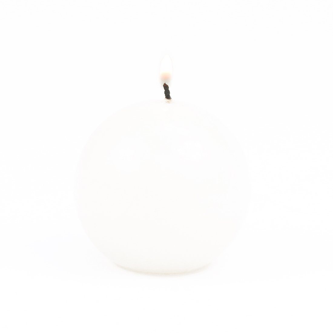 Koyal Wholesale 6-Pack 2.5-Inch Round White Ball Candles