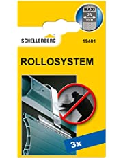 Schellenberg 19401 rolluik ophanging Maxi, RVS, oprolblokkering, voor 60mm rolluikbuis, 52mm profiel, 3 stuks, zilver