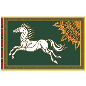 Amazon Com Lord Of The Rings Flag Rohan 59 X 39 4