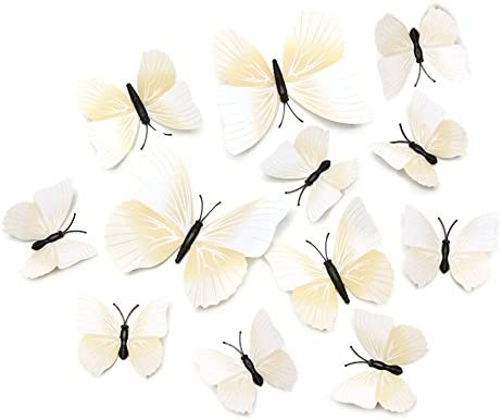Amazon.com: CHOP MALL 3D Butterfly Wall Stickers DIY Butterfly Wall ...