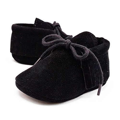 Infant Toddler Baby Boys Girls Soft Sole Tassel PU Leather Crib Infant Anti Slip Casual Loafers Shoes 0-18M