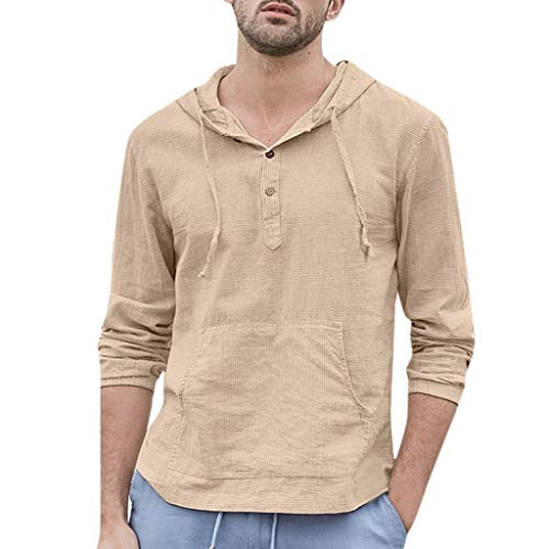 Pullover Hoodie Men Rose,Blouse MILIMIEYIK,Mens Cotton Linen Hippie Shirts Round Neck 3/4 Sleeve Casual Henley T-Shirt Tops ()