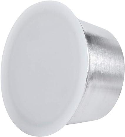 blanco C/ápsula de caf/é taza de c/ápsula de caf/é recargable reutilizable de acero inoxidable apta para la cafetera Dolce Gusto