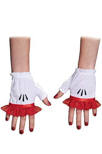 Disguise Costumes Red Minnie Glovettes, Adult