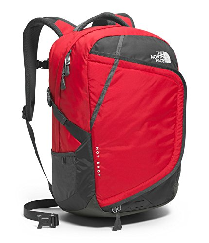 The North Face Hot Shot Backpack TNF Red Asphalt Grey One Size
