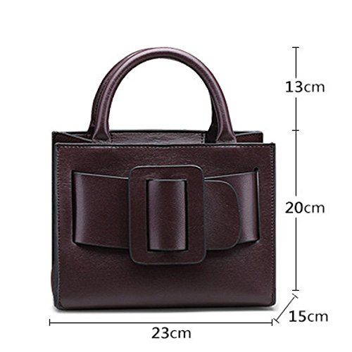 Diagonal Bark Leather Darkgrey Bag Bag Genuine Shoulder Pattern Leather Bag Lady Casual Bags Women's Bag PU 1Hxqw7fB